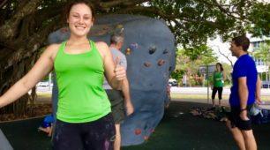 Tropical Climbing sessions at the Esplanade Boulder Park
